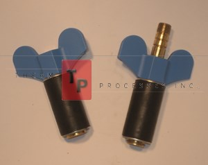 "7/8"" Expansion Plug - Brass - Set of open & closed plugs"