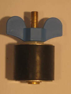 "2 1/4"" Expansion Plug - Brass - Open Stem"