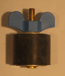 "2 3/8"" Expansion Plug - Brass - Open Stem"