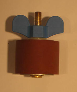 "2 5/8"" Expansion Plug - Brass - Open Stem"
