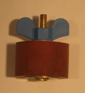"3 1/8"" Expansion Plug - Brass - Open Stem"