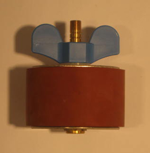 "3 3/8"" Expansion Plug - Brass - Open Stem"