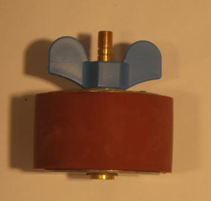 "3 5/8"" Expansion Plug - Brass - Open Stem"